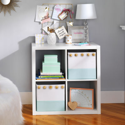 Frank And Lulu Turquoise Colorblock Storage Cube