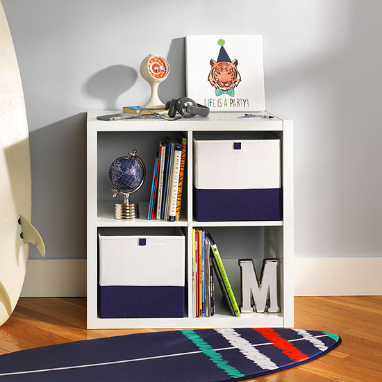 Frank And Lulu Navy Colorblock Storage Cube