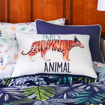 Frank And Lulu Party Animal Pillow Rectangular Throw Pillow