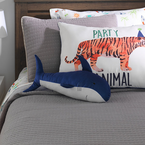 Frank And Lulu Shark Animal Throw Pillow