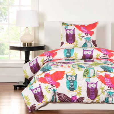 Crayola Owl Always Love You Comforter Set