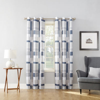 Valerie Blockade Grommet-Top Curtain Panel