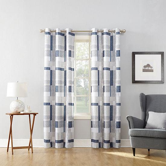 No 918 Valerie Blockade Light-Filtering Grommet-Top Single Curtain Panel