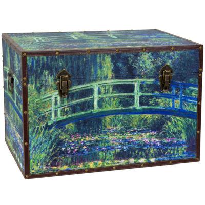 Oriental Furniture Monet's Garden Art Storage Trunk