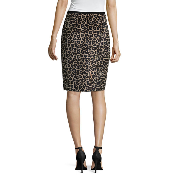 Liz Claiborne Leopard Print Pencil Skirt