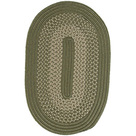 JCPenney Home Home Expressions Reversible Braided Oval Rug, One Size , Green