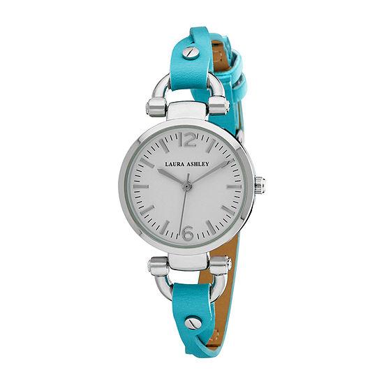 Laura Ashley Womens Blue Strap Watch-La31042bl