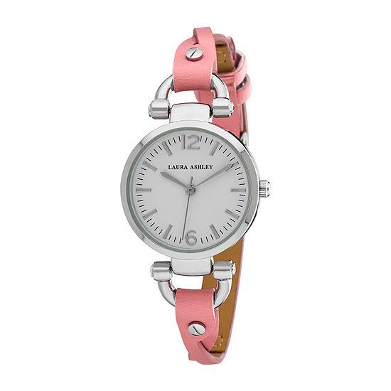 Laura Ashley Womens Pink Strap Watch-La31042pk