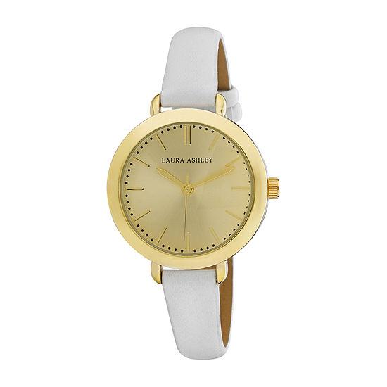 Laura Ashley Womens White Strap Watch-La31052yg