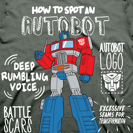 Toddler Boys Graphic Tees Toddler Boys Crew Neck Transformers Short Sleeve Graphic T-Shirt
