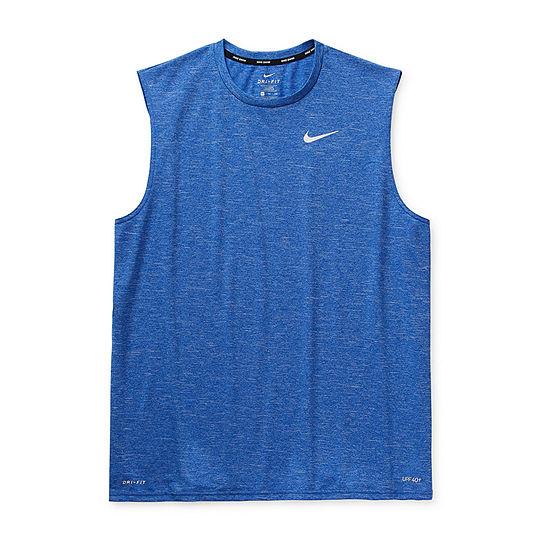 Nike Short Sleeve Heathered Hydroguard Swim Tank Big and Tall