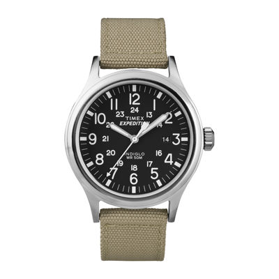 Timex® Expedition® Scout Mens Tan Strap Watch T499627R