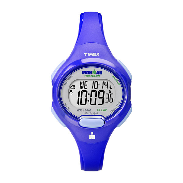 Timex® Ironman Womens 10-Lap Blue Strap Watch