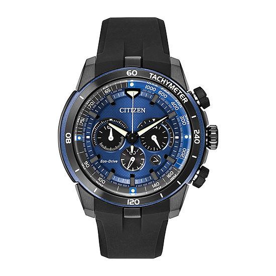 Citizen Ecosphere Mens Chronograph Black Strap Watch-Ca4155-12l