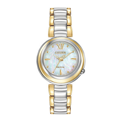 Citizen® Eco-Drive® Sunrise Womens Two-Tone Bracelet Watch