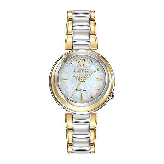 Citizen L Sunrise Womens Two Tone Stainless Steel Bracelet Watch-Em0337-56d