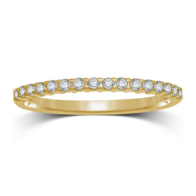 1/7 CT. T.W. Diamond 10K Yellow Gold Band Ring