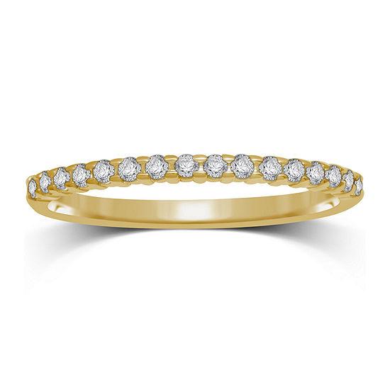 1/7 CT. T.W. Genuine Diamond 10K Yellow Gold Band Ring