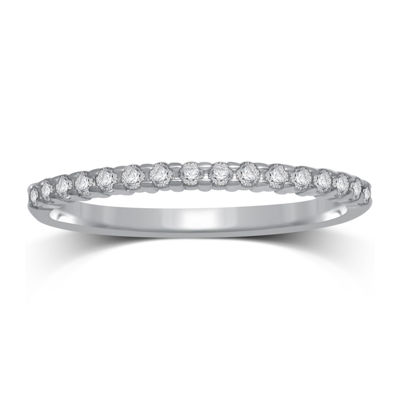 1/7 CT. T.W. Genuine Diamond 10K White Gold Band Ring
