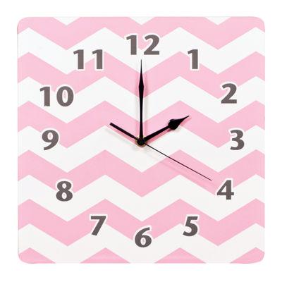Trend Lab® Pink Sky Chevron Wall Clock