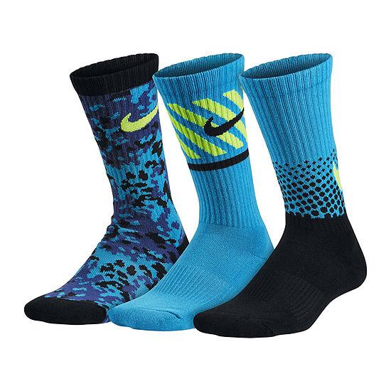 d7d471717 Nike® 3-pk. Graphic Crew Socks - Boys - JCPenney