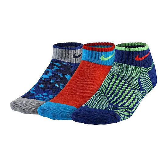 Nike® 3-pk. Graphic Low-Cut Socks - Boys