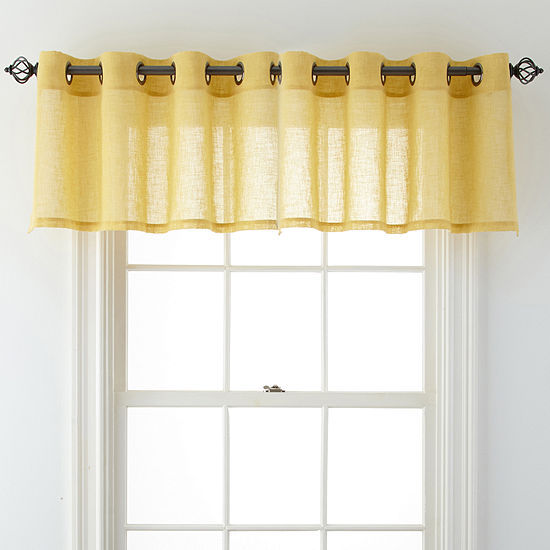 JCPenney Home Bayview Tailored Grommet-Top Tailored Valance
