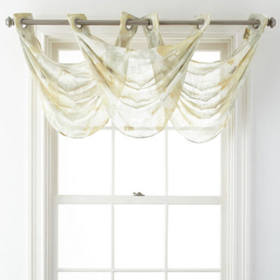 JCPenney Home™ Corina Grommet-Top Sheer Waterfall Valance
