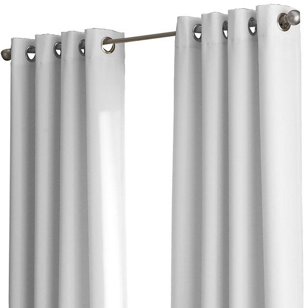 Kendall Lined Colorblock Grommet-Top Curtain Panel