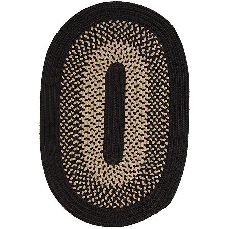 JCPenney Home Home Expressions Reversible Braided Oval Rug, One Size , Black