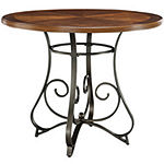 Glenside 5-pc. Gathering Table Set with Counter-Height Swivel Barstools