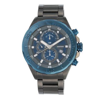 Armitron® Mens Navy and Dark Gray Bracelet Watch