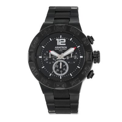 Armitron® Mens Black Titanium Bracelet Watch