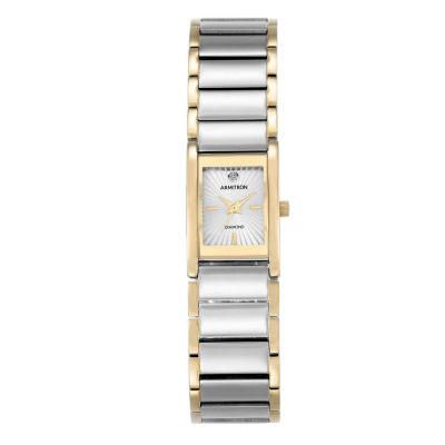 Armitron® Womens Two-Tone Bracelet Watch