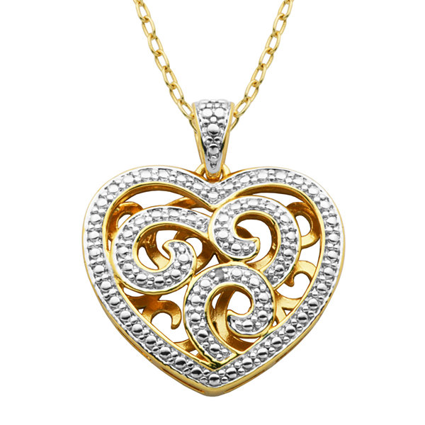 Classic treasures diamond accent heart pendant necklace jcpenney classic treasures diamond accent heart pendant necklace aloadofball