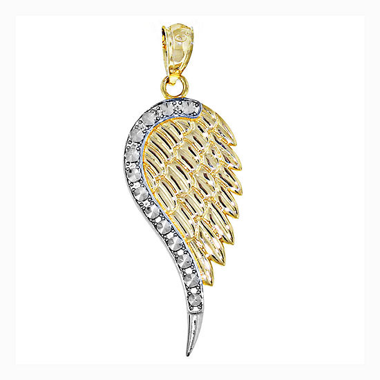 14k two tone gold angel wing charm pendant jcpenney 14k two tone gold angel wing charm pendant aloadofball Choice Image