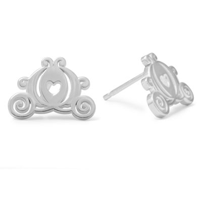 Disney Cinderella Sterling Silver Carriage Stud Earrings