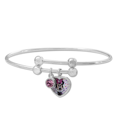 Disney Minnie Mouse Brass Heart Adjustable BangleBracelet
