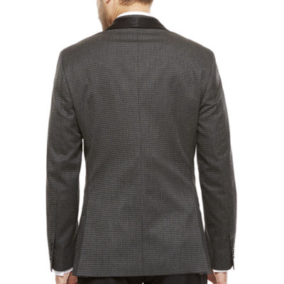 J. Ferrar® Black Grey Houndstooth Slim Sport Coat