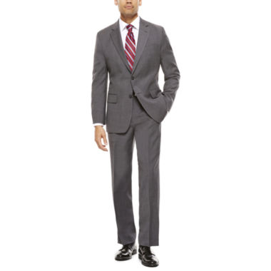jcpenney.com | Stafford® Travel Classic-Fit Stretch Charcoal Windowpane Suit Separates