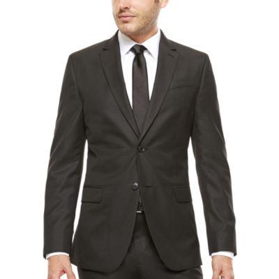 JF J. Ferrar® Slim-Fit Black Box Check Suit Jacket