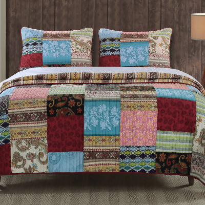 Greenland Home Fashions Bohemian Dream Quilt Set