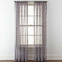 Leopard Sheer Curtains For Window Jcpenney