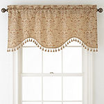 Home Expressions™ Somerville Rod-Pocket Scalloped Valance