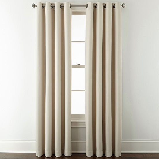 JCPenney Home Aurora Blackout Grommet-Top Single Curtain Panel