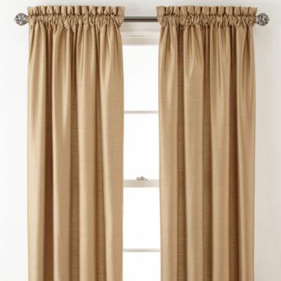 Royal Velvet Plaza Thermal Interlined Room Darkening Rod-Pocket Curtain Panel