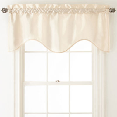 Plaza Thermal Interlined Rod-Pocket Scalloped Valance