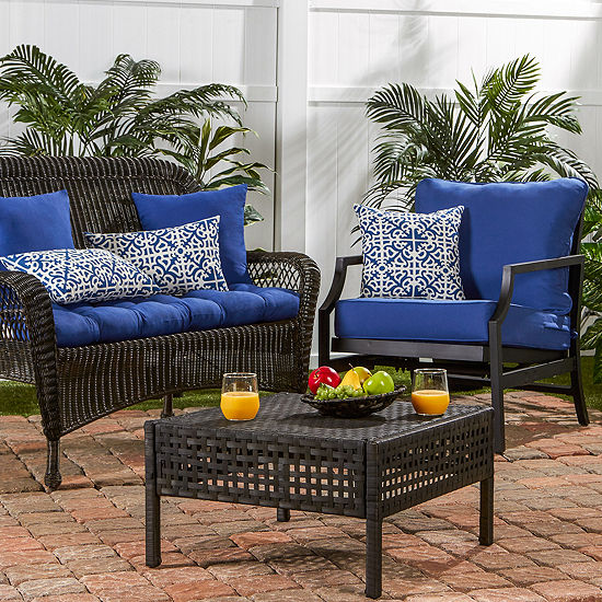 Greendale Home Fashions Outdoor 44 IN Solid Swing or Bench Cushion