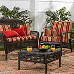 Greendale Home Fashions Outdoor 44 IN Stripe Swing or Bench Cushion