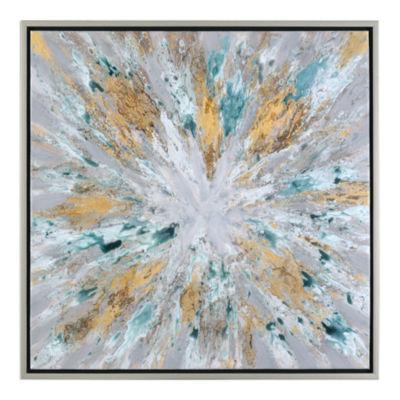 Exploding Star Framed Wall Art